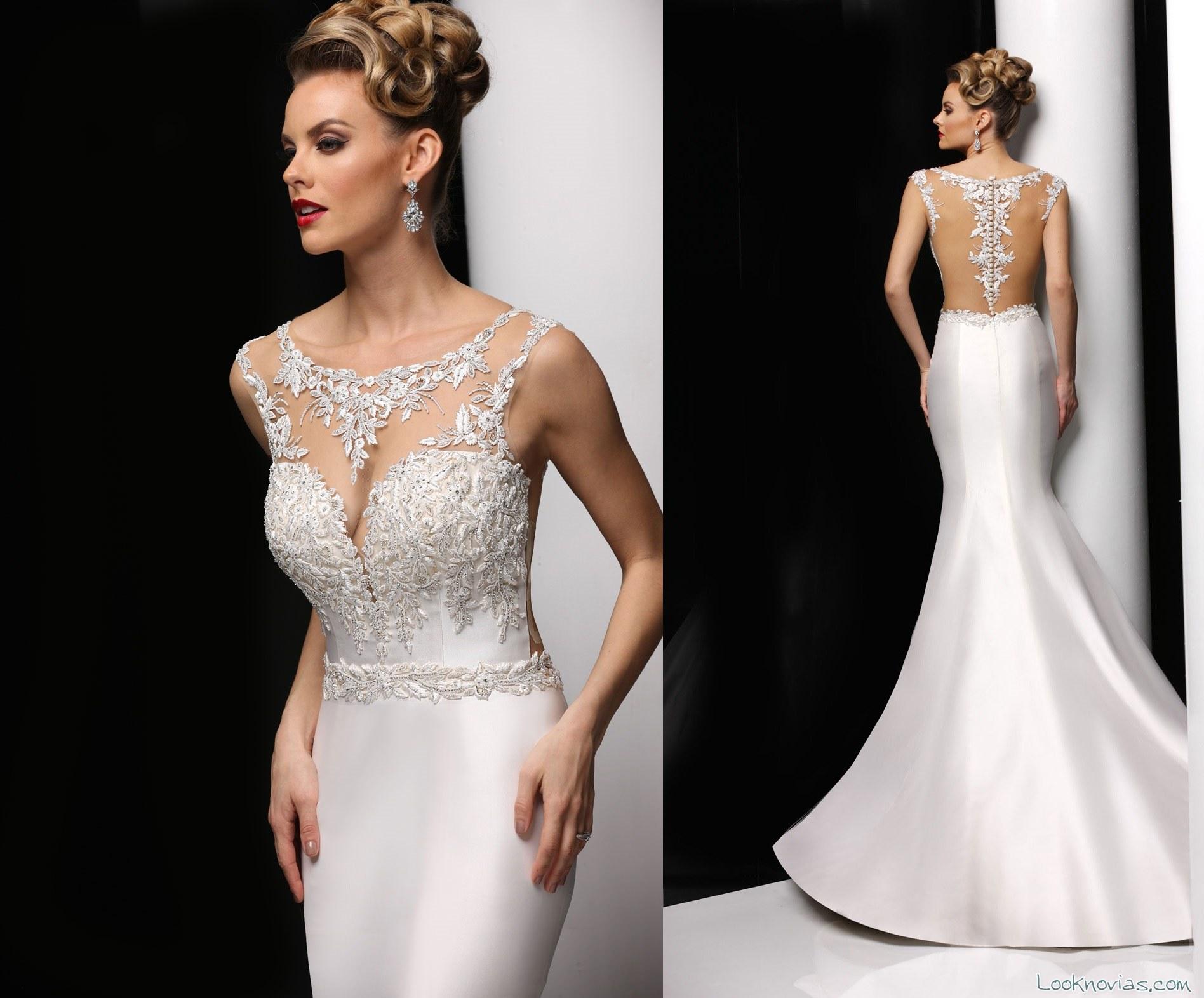 vestido recto de novia simone carvalli
