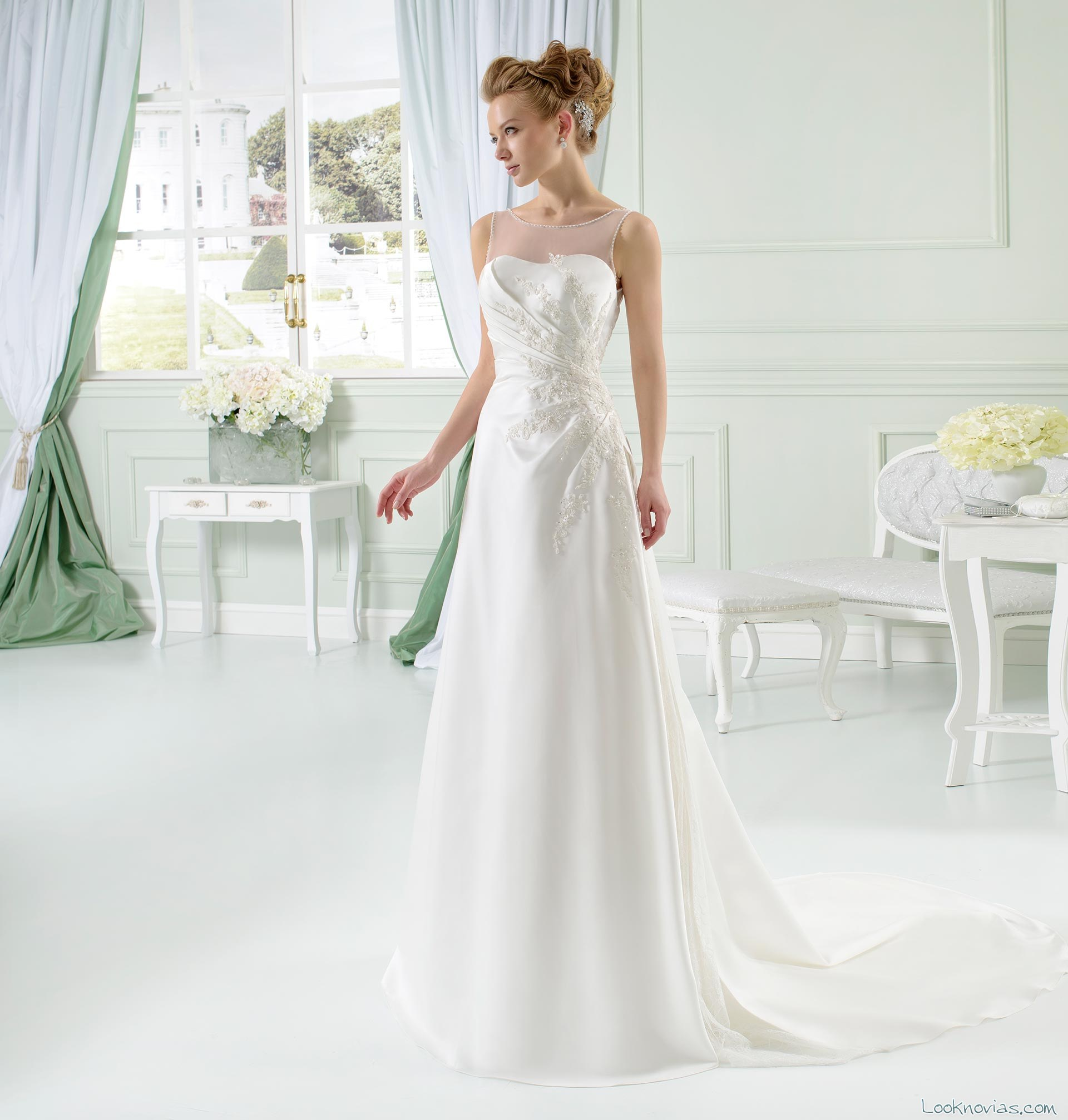 vestido recto de novia toi spose