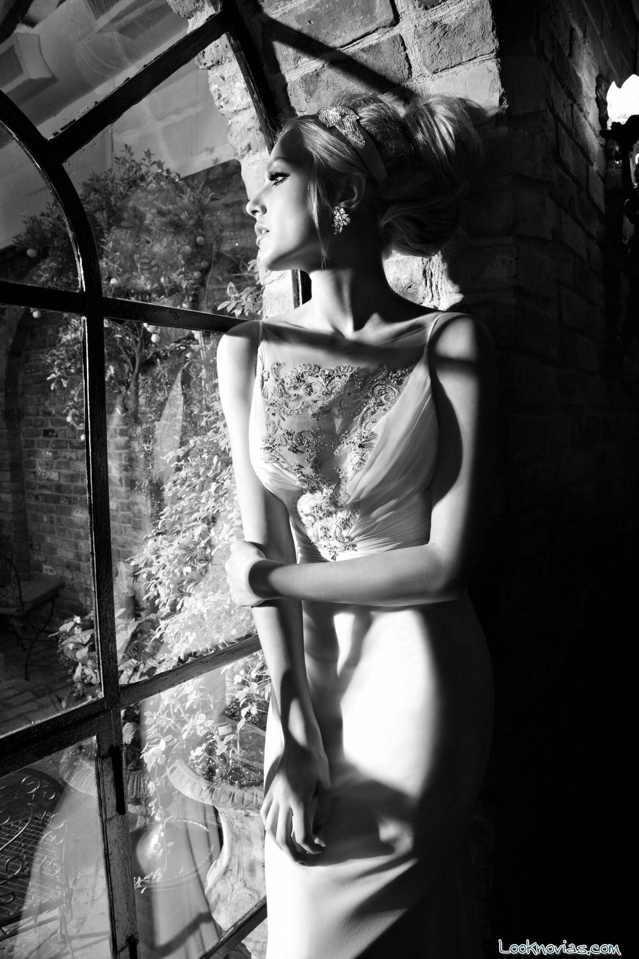 vestido recto de novia