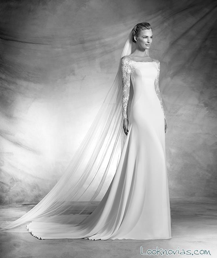 vestido recto de pronovias 2016