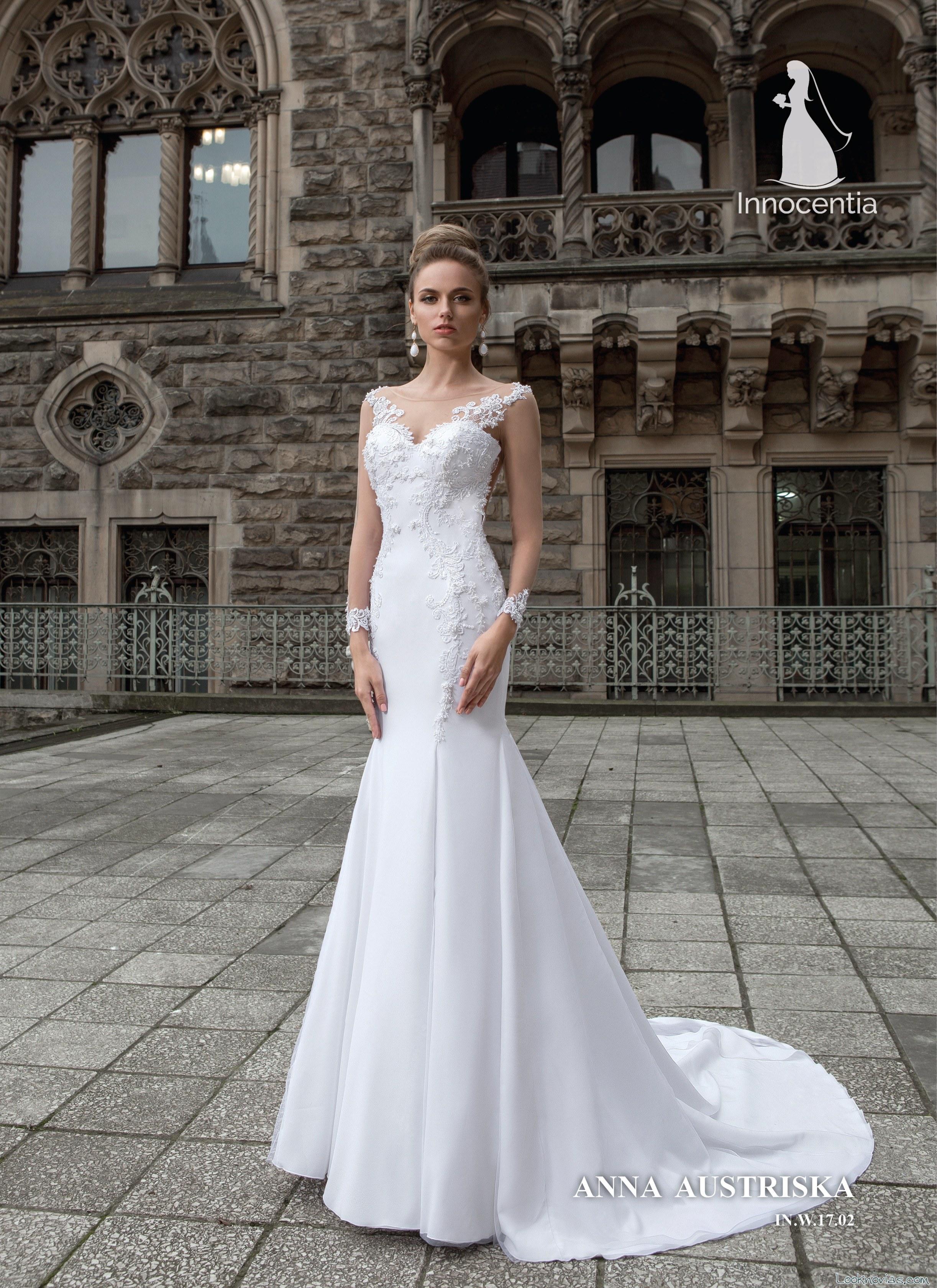 vestido recto elegante novias innocentia