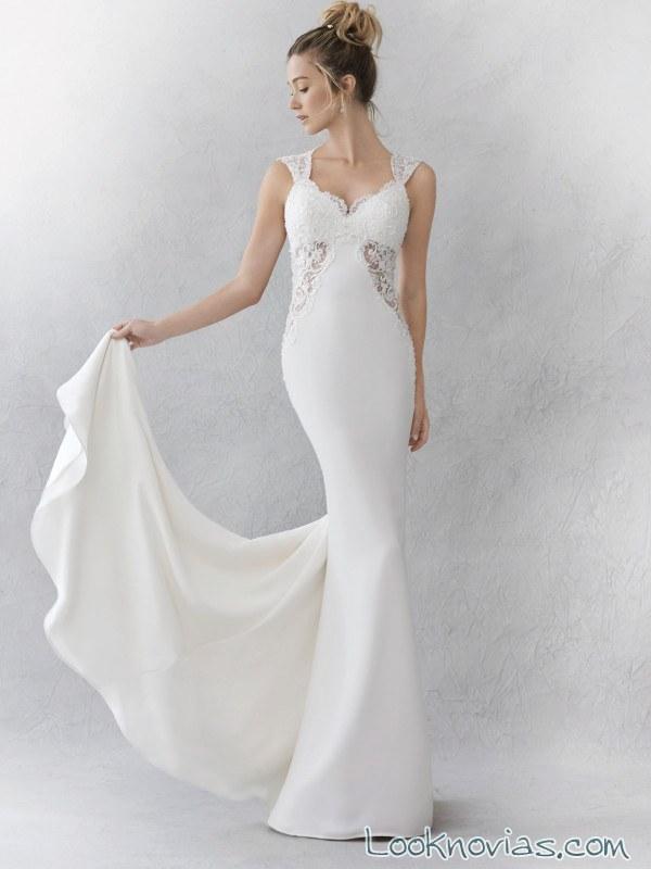 vestido recto ella rose con detalles originales