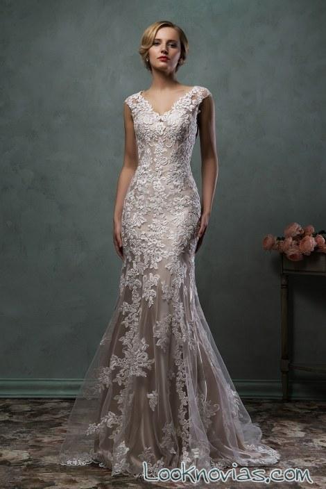 vestido recto en color de amelia sposa
