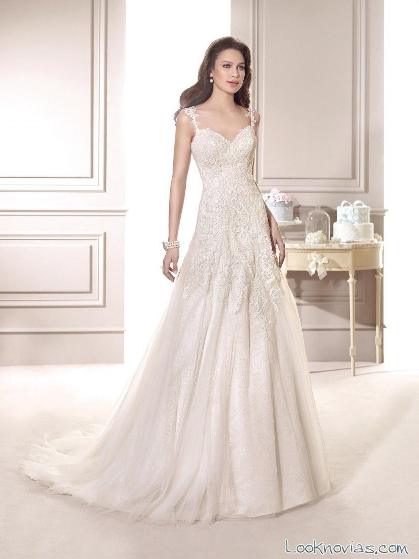 vestido recto fara sposa 2015