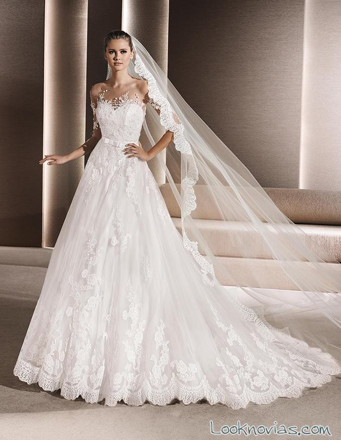 vestido recto la sposa 2016