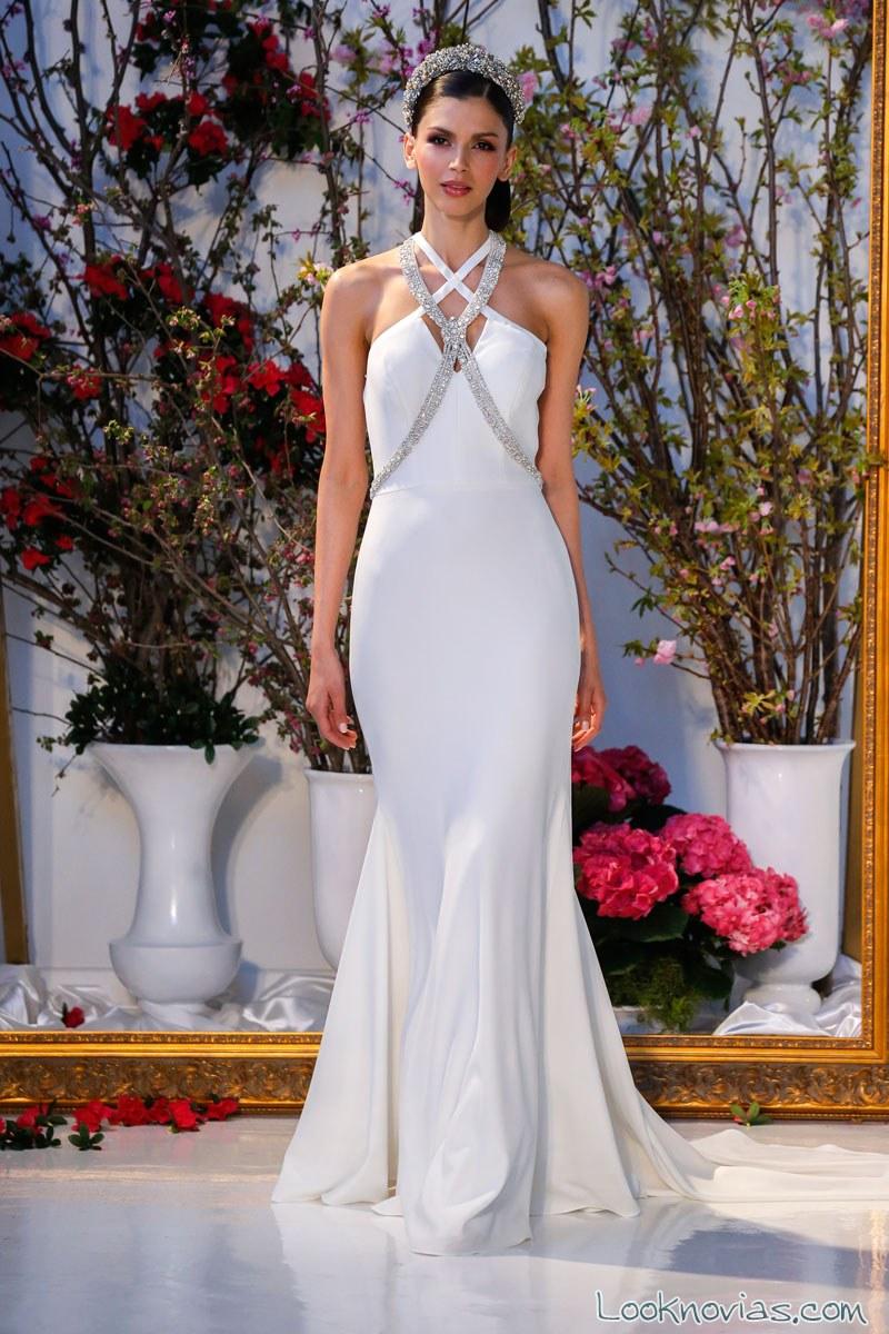 vestido recto novia anne barge