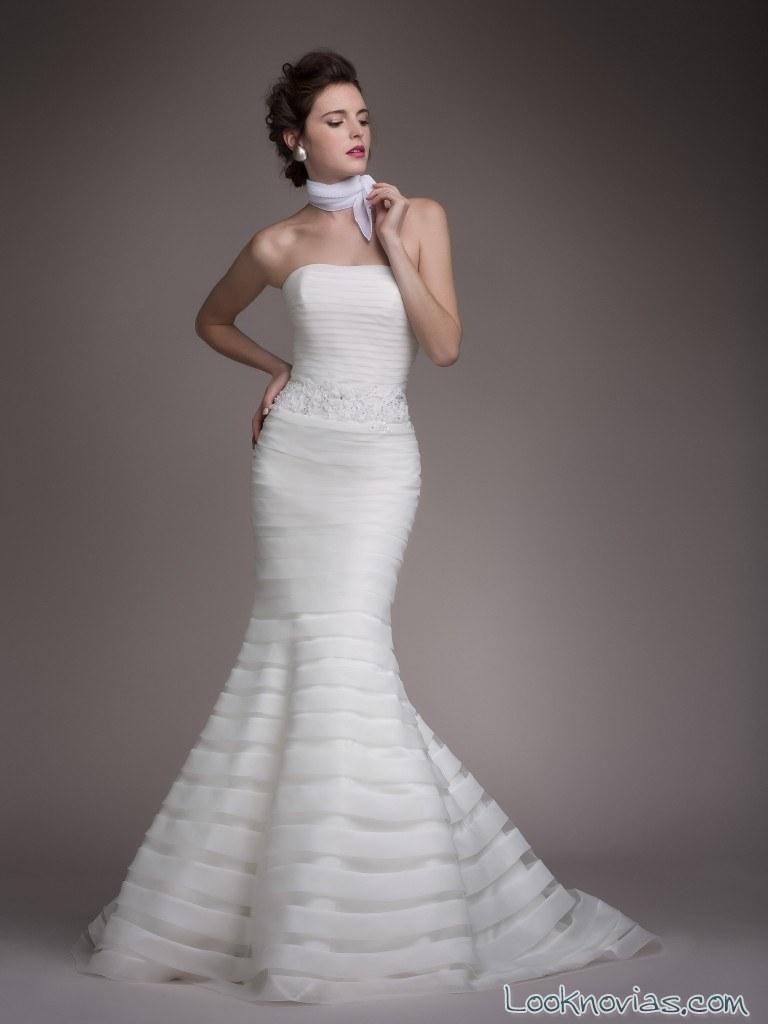 vestido recto novias blancary 2017