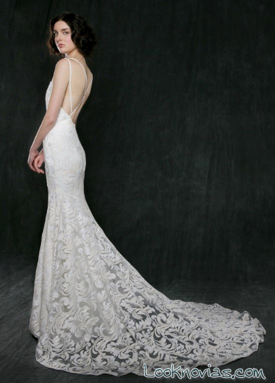 vestido recto novias coleccion 2017
