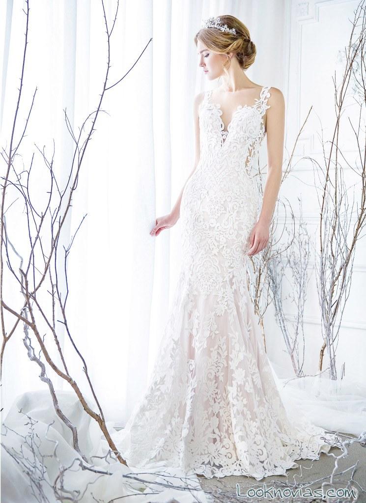 vestido recto novias colecciones 2018 rico a mona