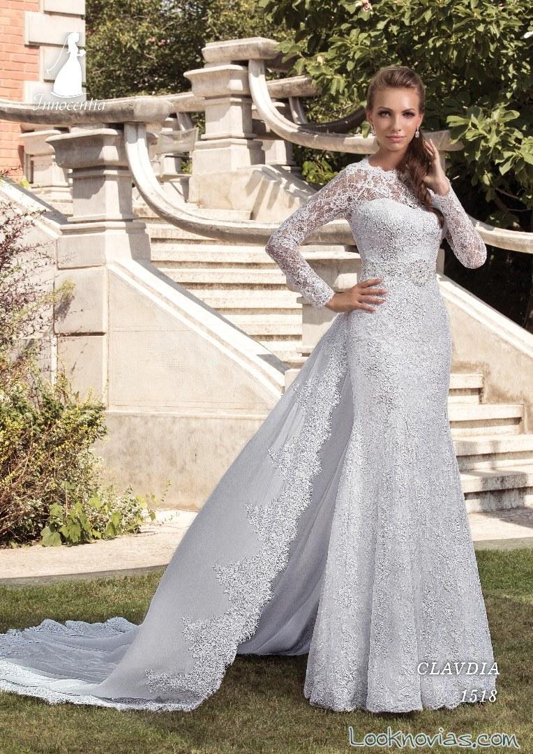 vestido recto novias con mangas innocentia