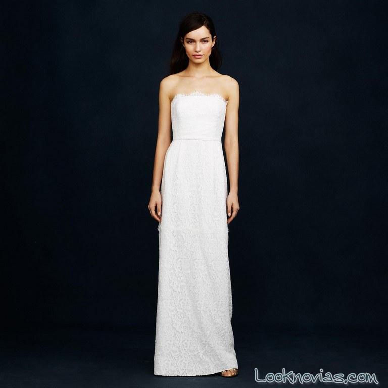 vestido recto novias economico