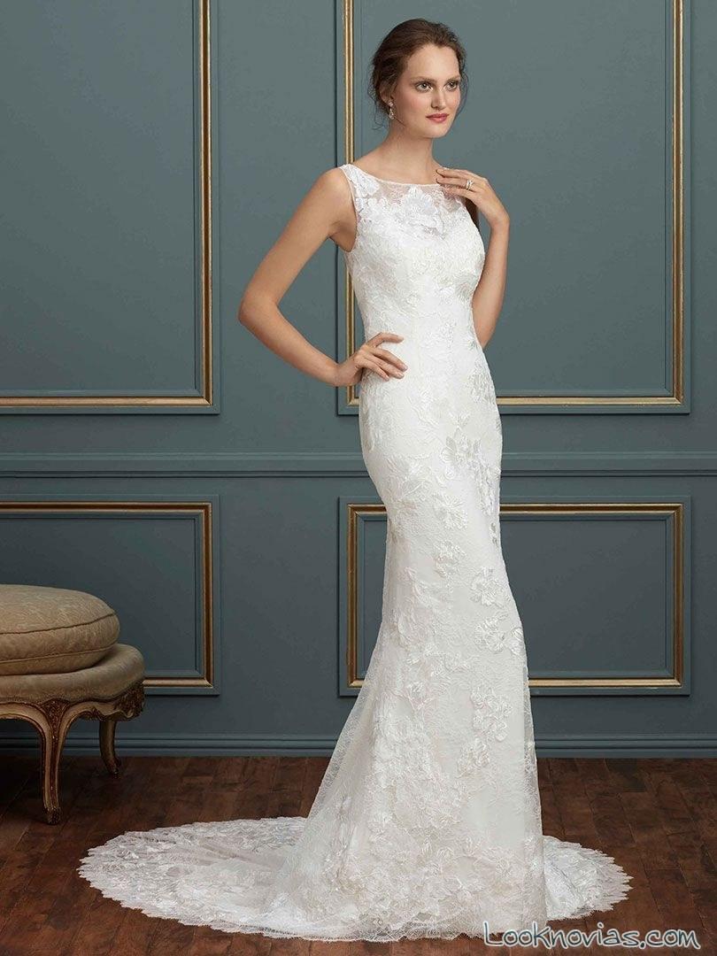 vestido recto novias en blanco amare couture