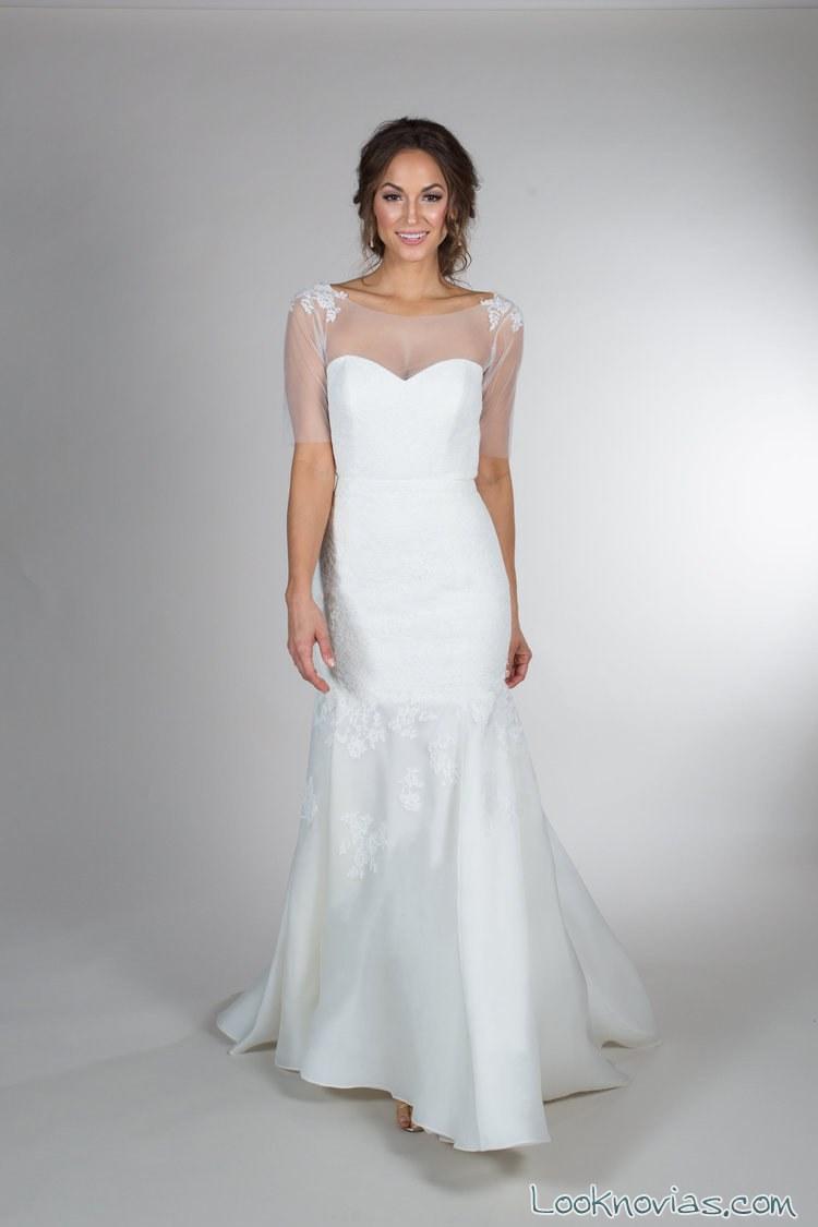 vestido recto novias heidi elnora con apliques