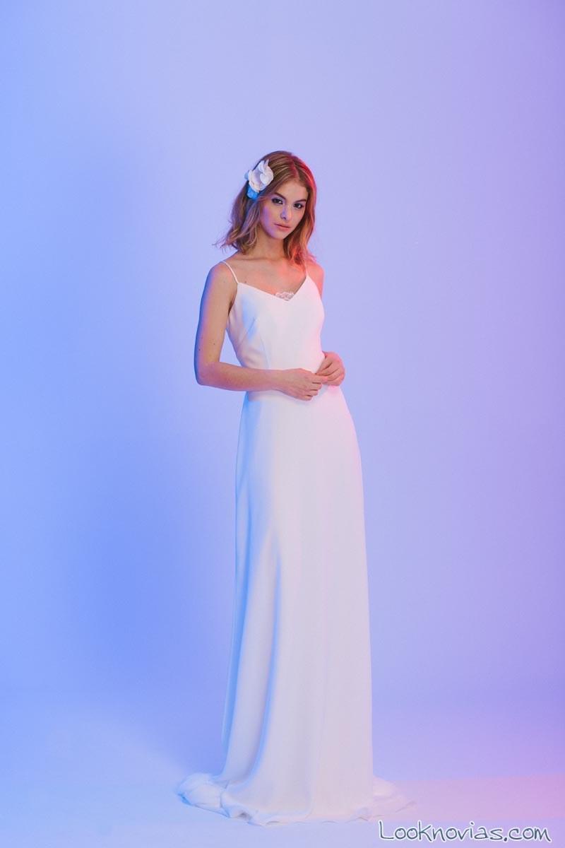 vestido recto novias otaduy 2017