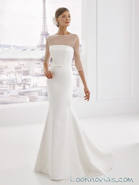 vestido recto novias pronuptia