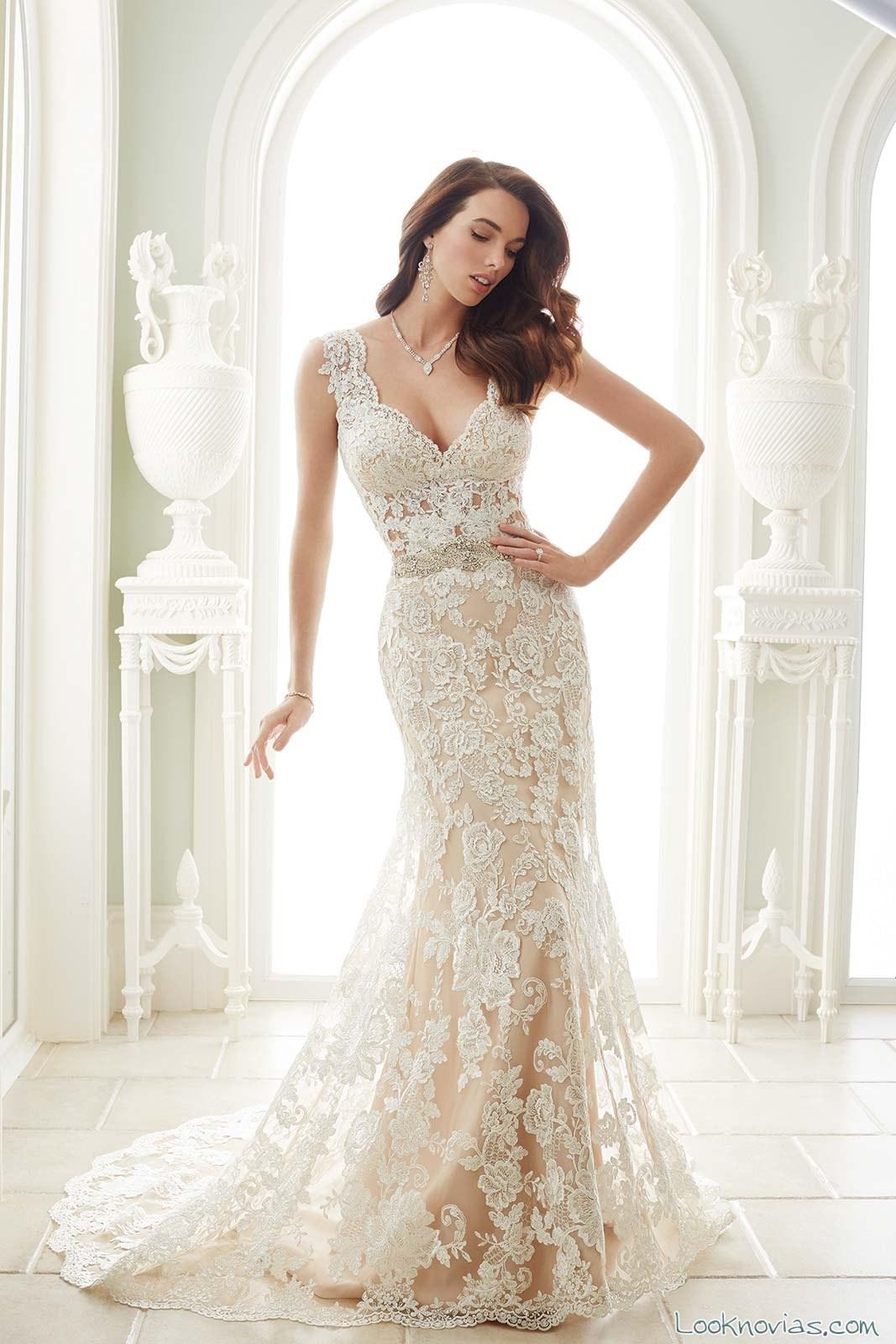 vestido recto novias sophia tolli