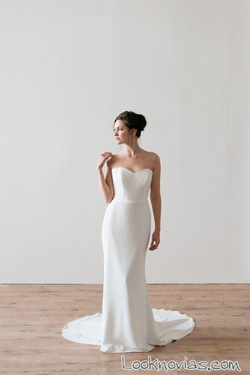 vestido recto nueva colección novias neoh