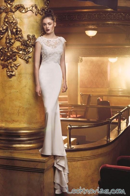 vestido recto paloma blanca novias 2016