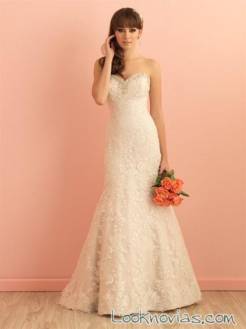 vestido recto para novias elegantes