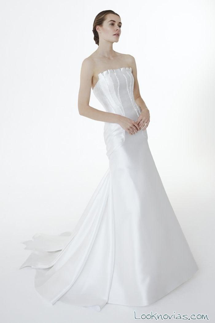 vestido recto satinado de sirena