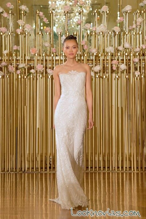 vestido recto satinado francesca miranda