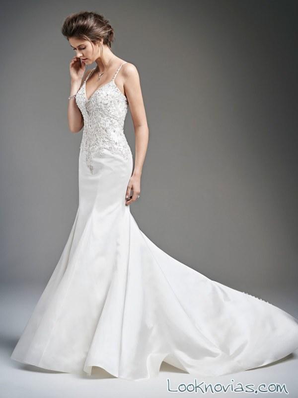 vestido recto sirena de novia