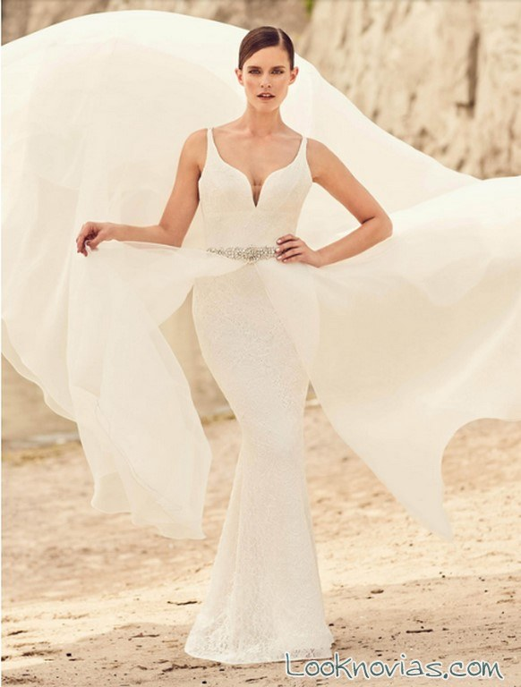 vestido recto sirena doble falda