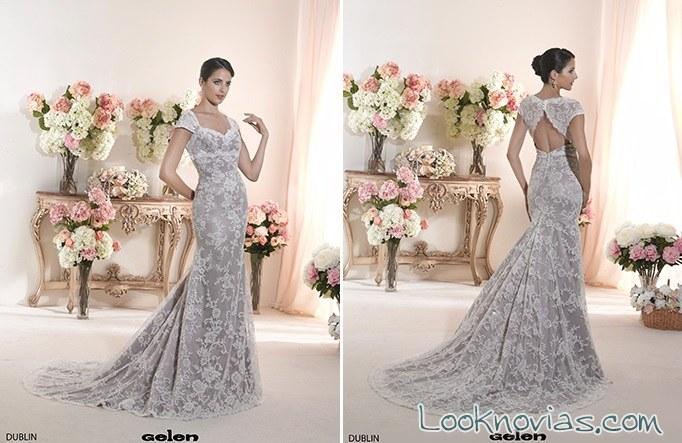 vestido recto sirena gelen novias