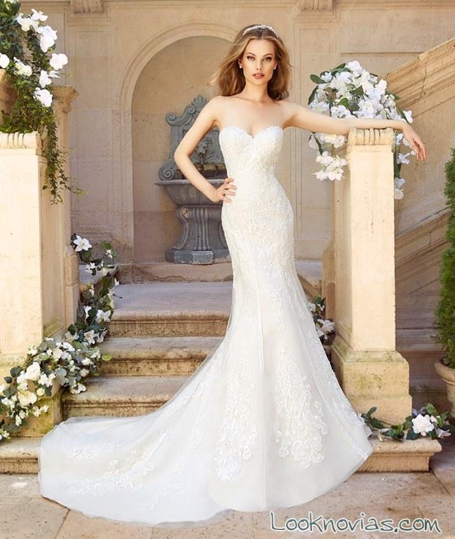 vestido recto sirena moonlight bridal