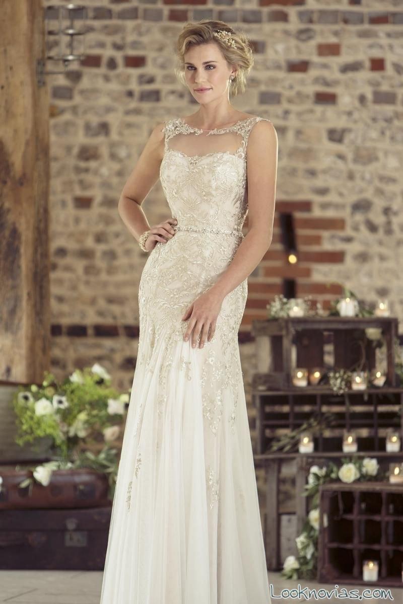 vestido recto true bride 2016