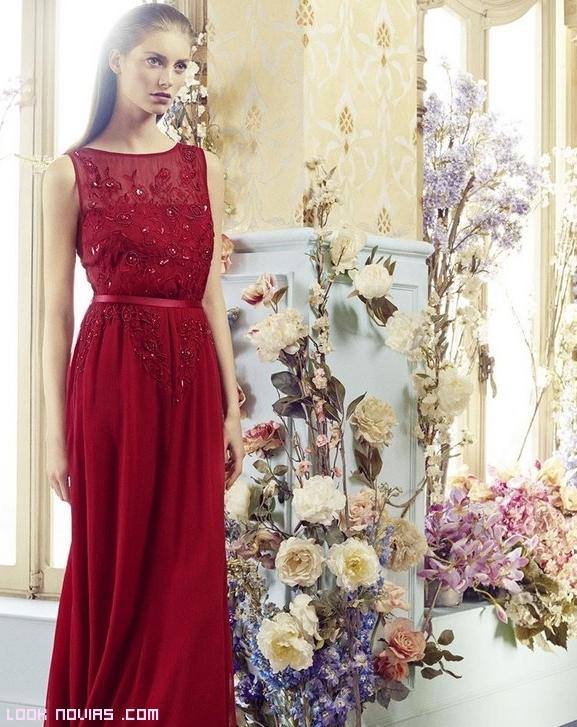 vestidos largos en rojo