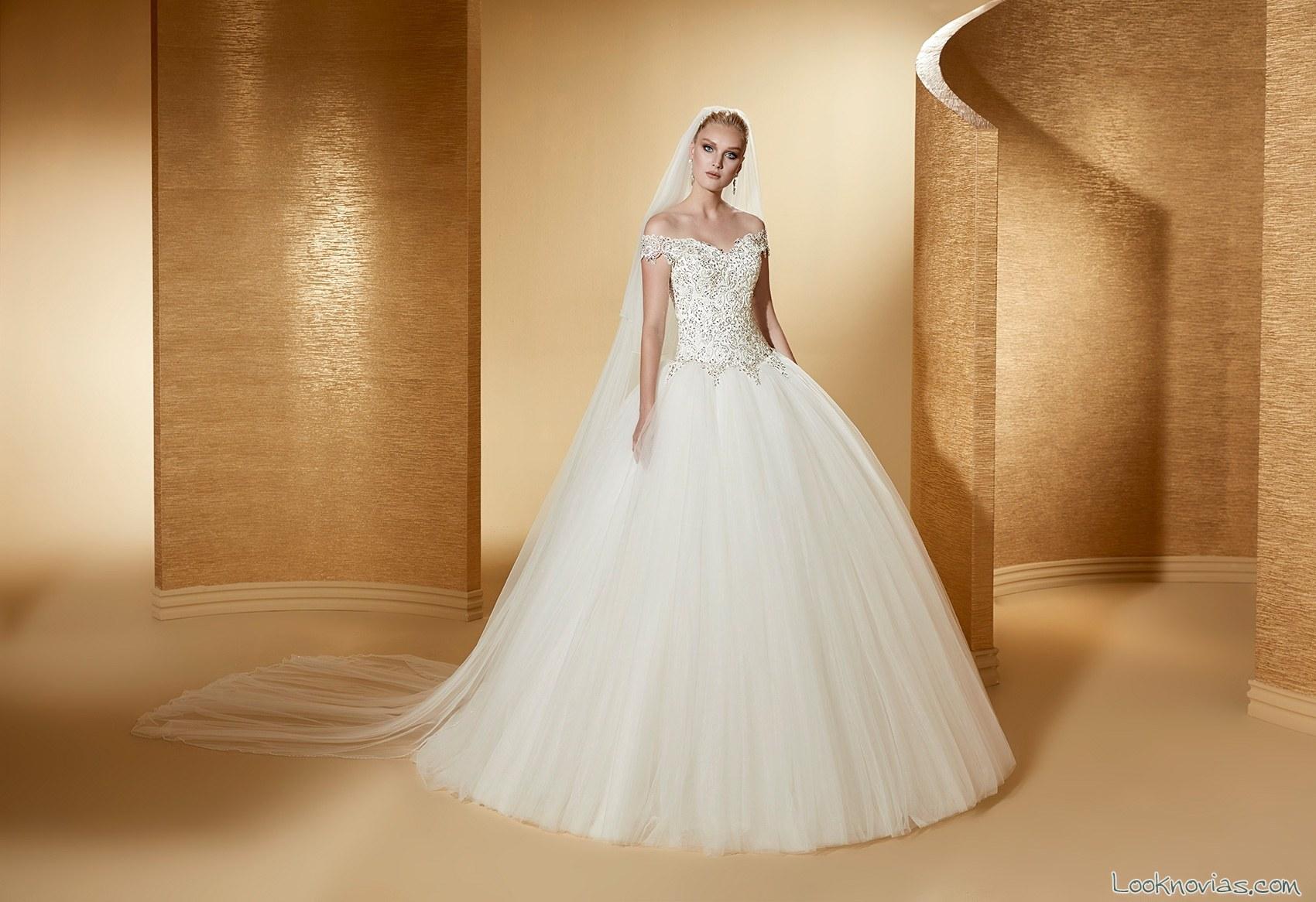vestido romance novias 2017 escotes