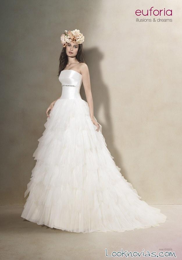 vestido romántico de novia euforia