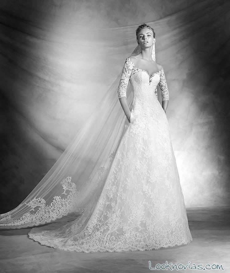 vestido romántico evasé para novias 2016