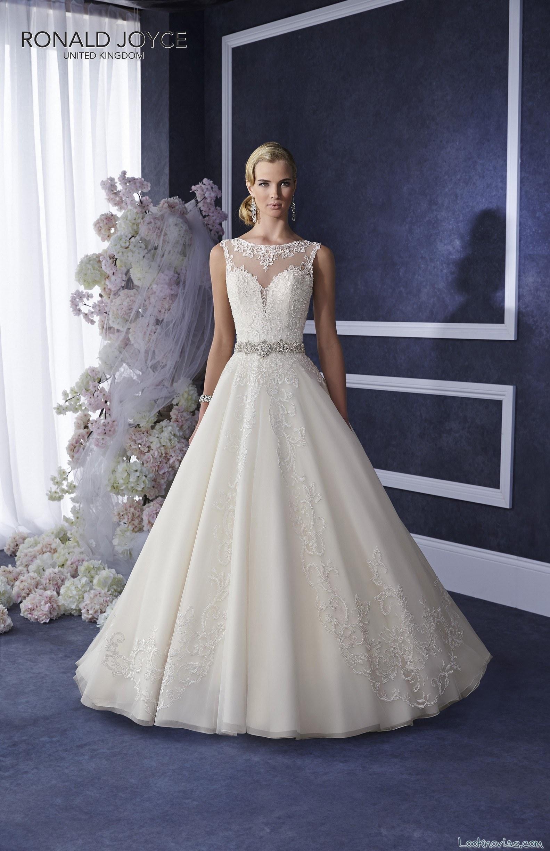 vestido ronald joyce con corte corazón