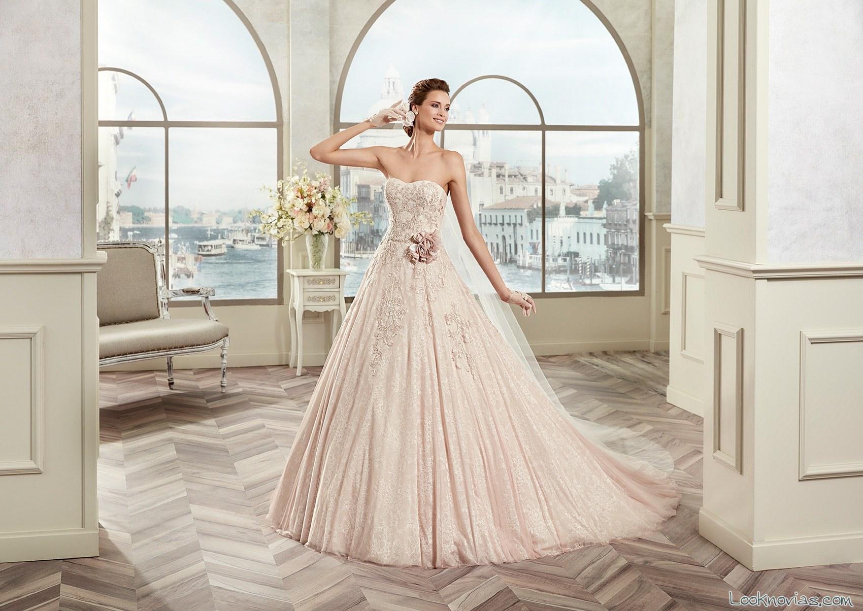 vestido rosa 2017 colet