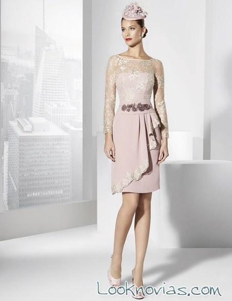 vestido rosa corto franc sarabia
