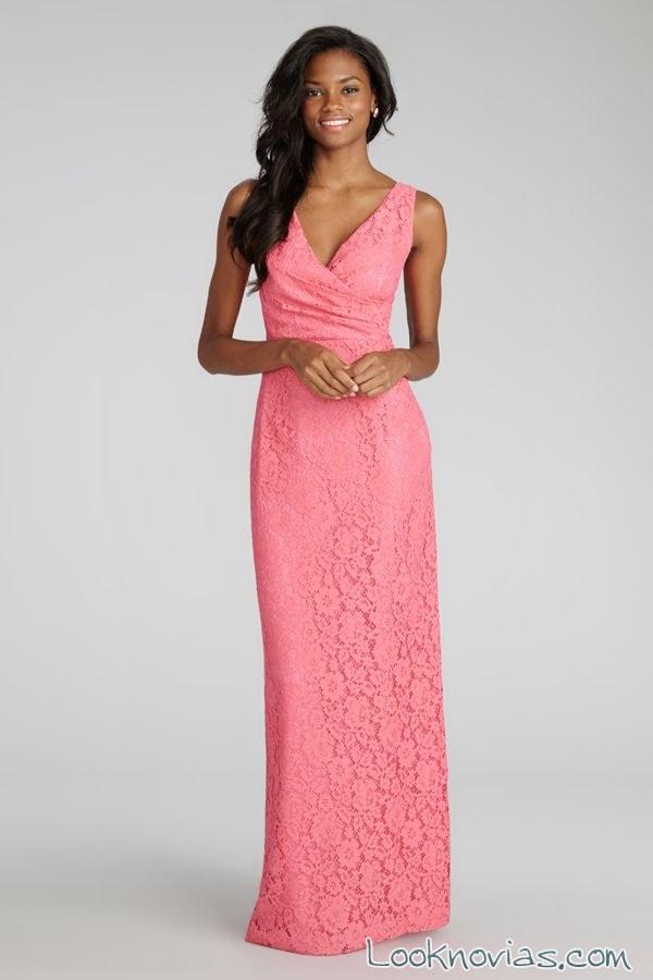 vestido rosa fucsia donna morgan