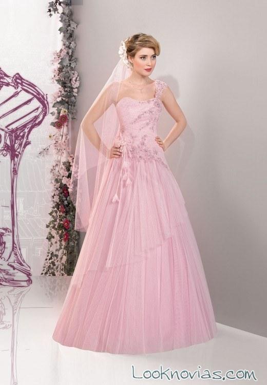 vestido rosa miss paris novias