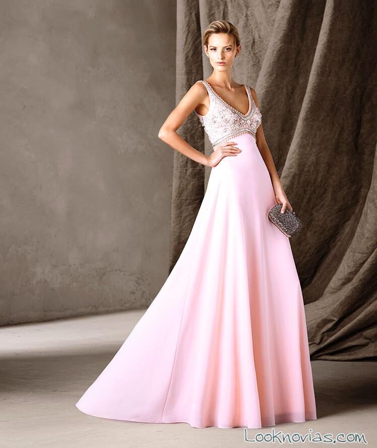 vestido rosa palo pronovias 2017