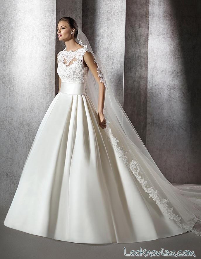 vestido san patrick combinado con falda lisa
