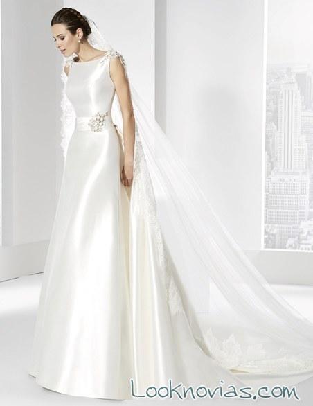 vestido satinado de franc sarabia