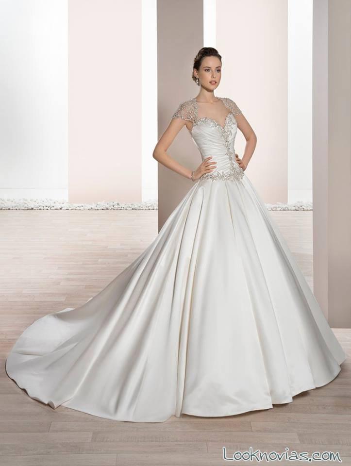 vestido satinado demetrios 2017