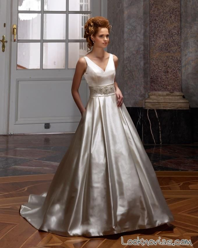 vestido satinado diane le grand