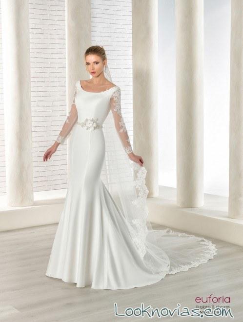 vestido satinado novias 2018