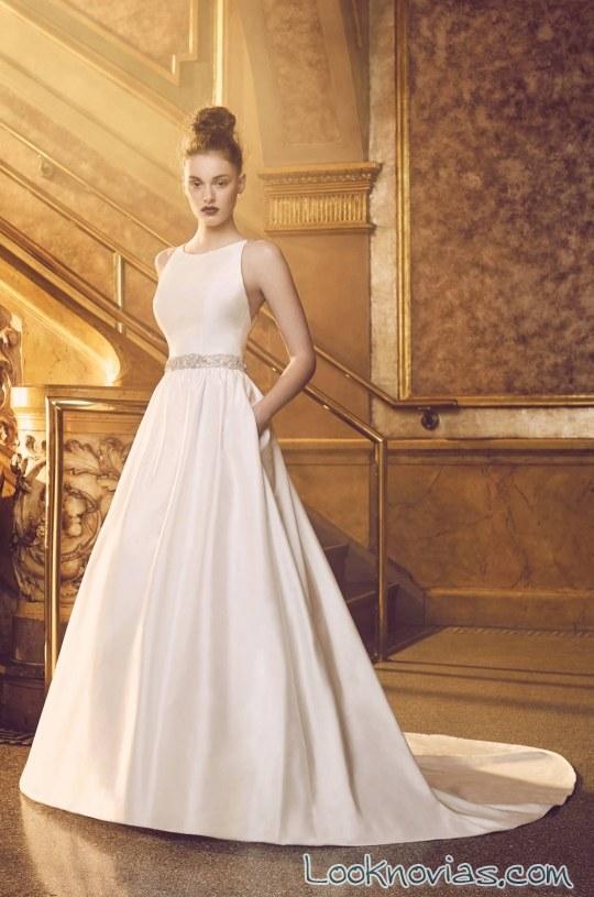 vestido satinado princesa paloma bridal