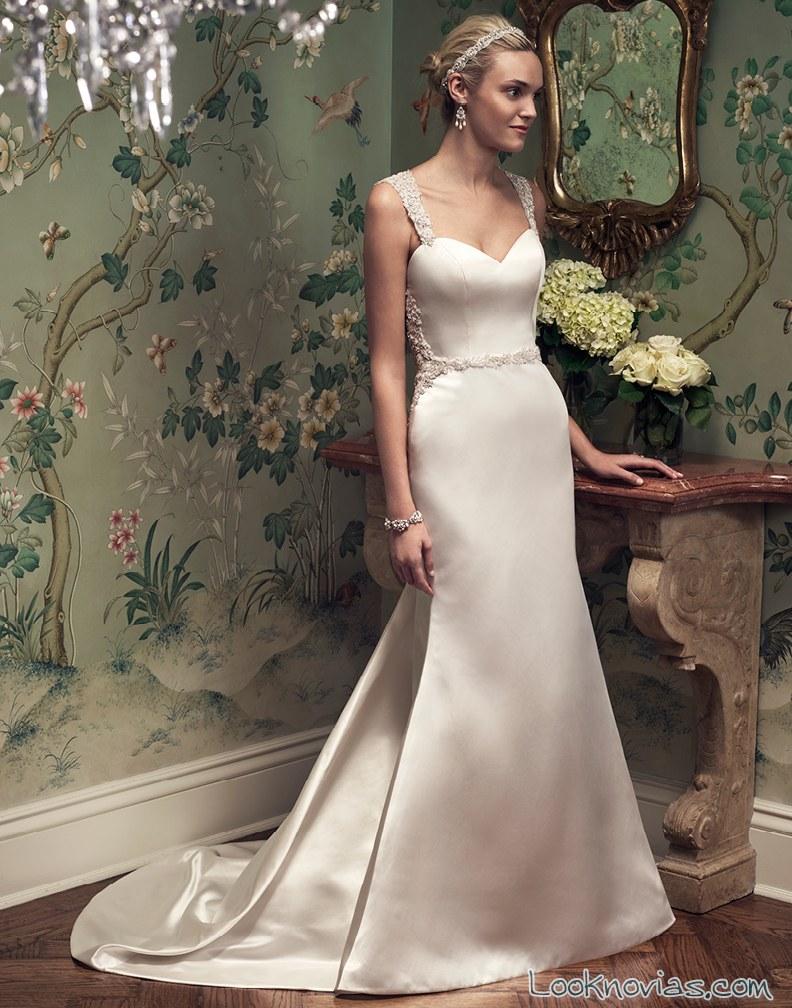 vestido satinado recto de casablanca