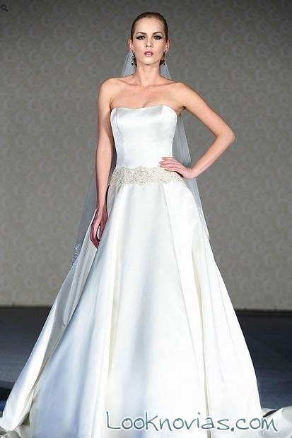 vestido satinado saison blanche