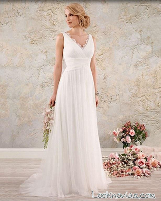vestido sencillo alfred angelo novias