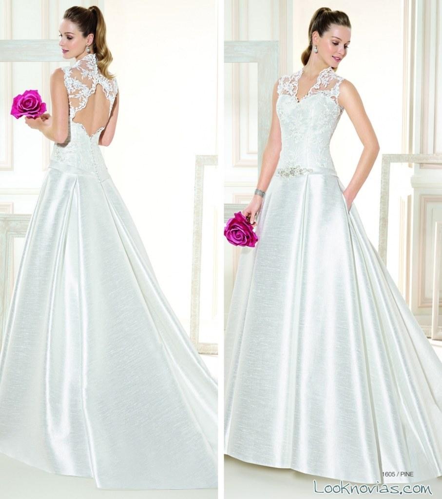 vestido sencillo con escote abierto